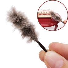 MUQGEW Funny Cute Dollhouse Miniature 1:12 Feather Duster Cleaning Tool Broom Doll House Accessories Toys for Children(China)