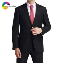 Formal Business Custom Made Men Suit Black Slim Fit Wedding Groom Tuxedo Groomsmen Blazers Jacket Pants 2Piece