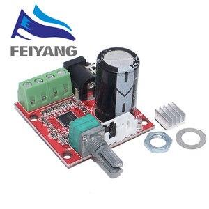 Image 1 - 10 шт. 12 В мини Hi Fi PAM8610 аудио стерео усилитель плата 2X10W двухканальный D Класс смарт электроники горячая распродажа