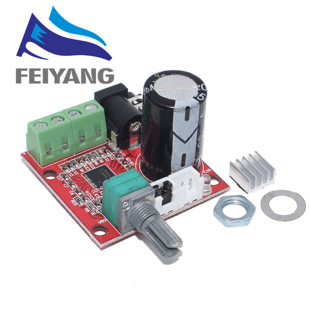 10PCS 12V Mini Hallo fi PAM8610 Audio Stereo Verstärker Bord 2X10W Dual Kanal D Klasse Intelligente Elektronik Heißer Verkauf