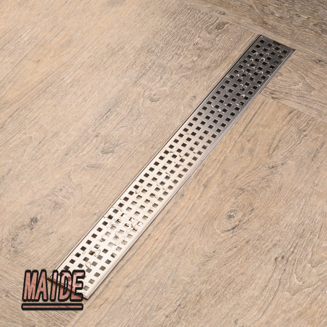 304 Stainless Steel Large Flow Shower Drain Wetroom Long Floor Drain  Channel 600*68mm