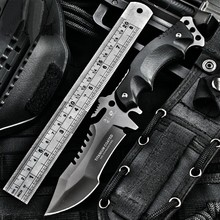 HD OUTDOORS army Survival knife outdoor tools high hardness small straight knives essential tool for self-defense Favorites A+++