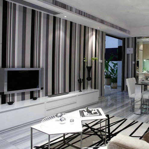 Grey Feature Wall Wallpaper Living Room Aecagraorg - Living room wallpaper feature wall