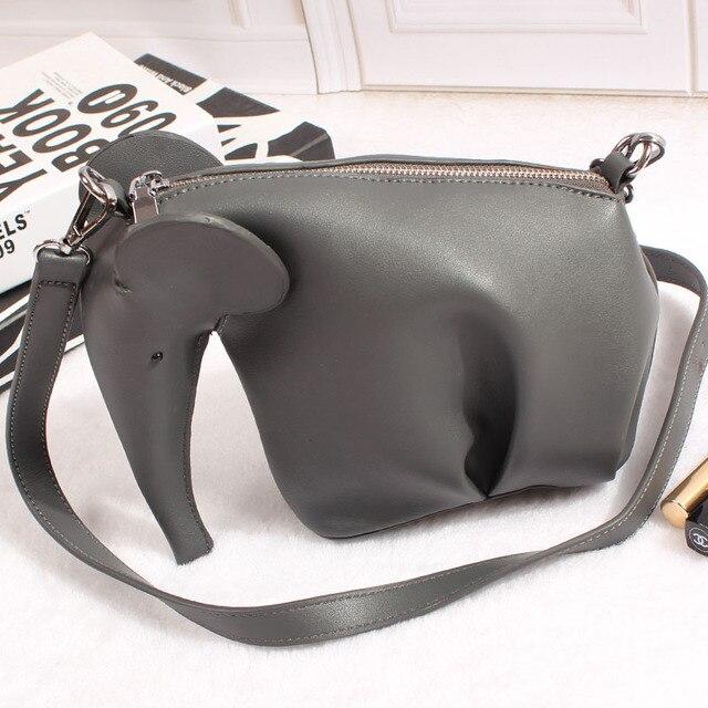 Super Quality Women Leather Handbags Casual Cross Body Elephant Shaped Bags Slas Messenger Bag Purse 5