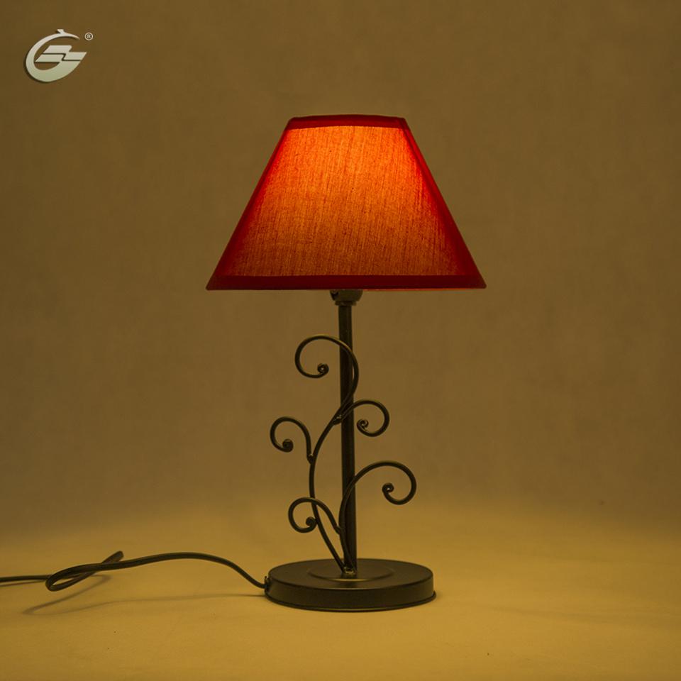 Moderne lampe de table lin abat jour éclairage appareils accueil décoration pour salon chambre hôtel de chevet lampes