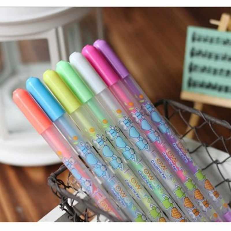 للجنسين القلم المدرسة مكتب التعلم PenWedding القلم 0.8 مللي متر Kawaii طابعة بحبر أبيض اللون ألبوم صور هلام قلم هدية للأطفال القرطاسية