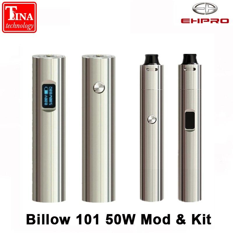 Original Ehpro Billow 101 50W Mod 0.49 pouces OLED écran réglable Tube fit 18350 18650 batterie boîte Mod VS Alien AL85 Kit-in Cigarette électronique Mods from Electronique    1