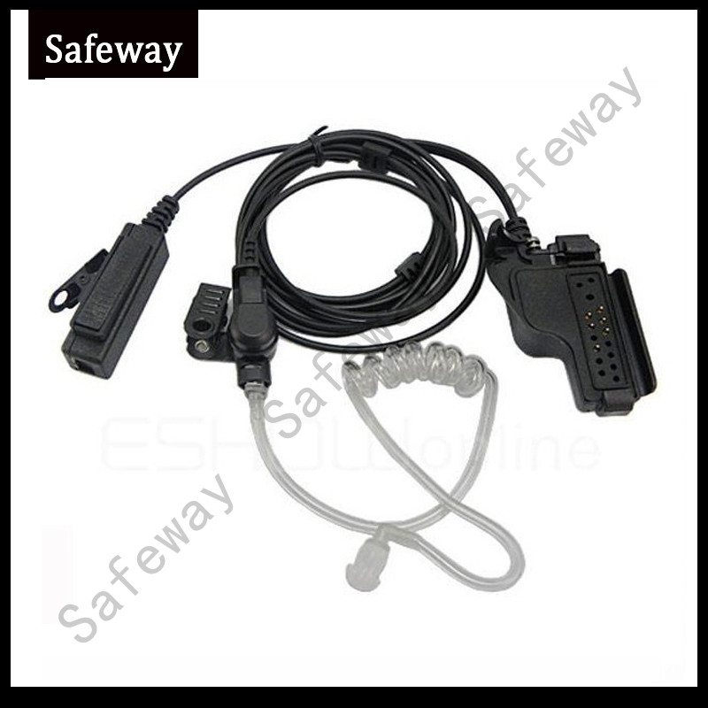 Two Way Radio Air Tube Headset Acoustic Tube Earpiece Mic For Motorola MTS2000 HT1000,XTS5000 Etc