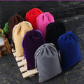 "Velvet Gift Bags15x20cm(6""x8"") Higher quality Travel Organizer Jewelry Box Drawstring Packaging Pouch"
