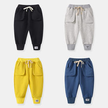 Get more info on the 100 Cotton Sport Pants for Boys Blue Yellow Gray Black Sweatpants For Baby Boys Trousers Pants Children Toddler Fall Clothes