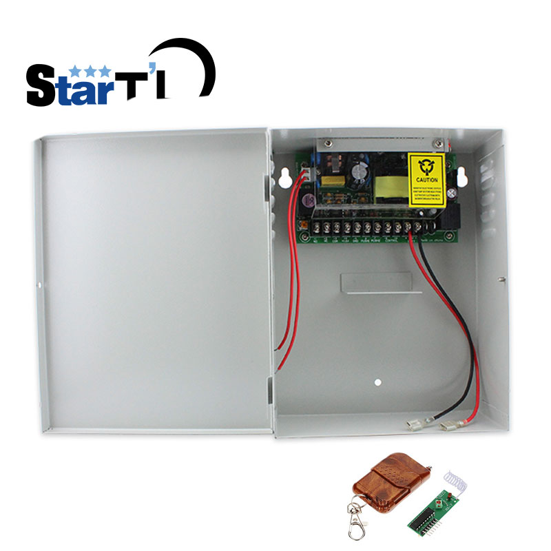 DC12V5A Back Up Battery Function Switch Power Supply AC110~260V Access Control Power Supply +wireless Remote Control