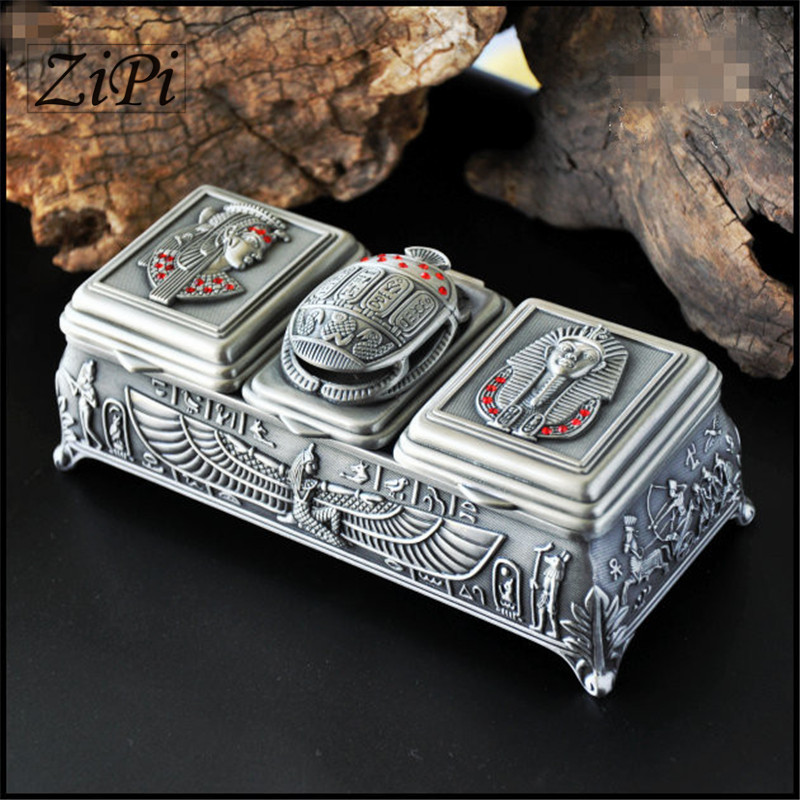 Ancient Egyptian gods metal jewelry ring jewelry box storage box retro European style princess jewelry box gift