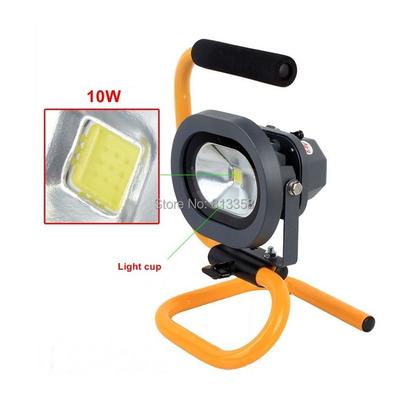 ФОТО H08 Portable Ultra Bright Cordless Rechargeable Led Flood Spot Work Light Lamp 10W Water Resistant