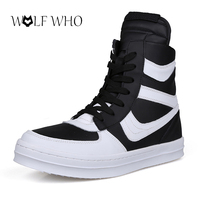 Botas Masculina Trainers Owen Shoes High Top Boots Hard Wearing Hip Hop Men Street Dance Personalized