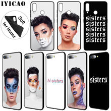IYICAO James Charles X Blank Canvas Soft Phone Case for Huawei Y9 Y7 Y6 Prime 2019 Honor 20 8C 8X 8 9 9X 10 Lite 7C 7X 7A Pro(China)