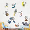 Bugs Bunny de dibujos animados creativo pegatinas de pared sala de estar dormitorio infantil parvulario aula notebook pegatinas mural Niños