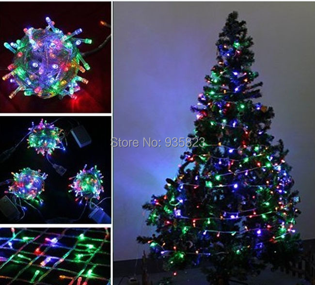 10m 100 led multi color party led light christmas lights christmas tree decorations 220v led string for wedding party natal in christmas from home garden - Led Light Christmas Decorations