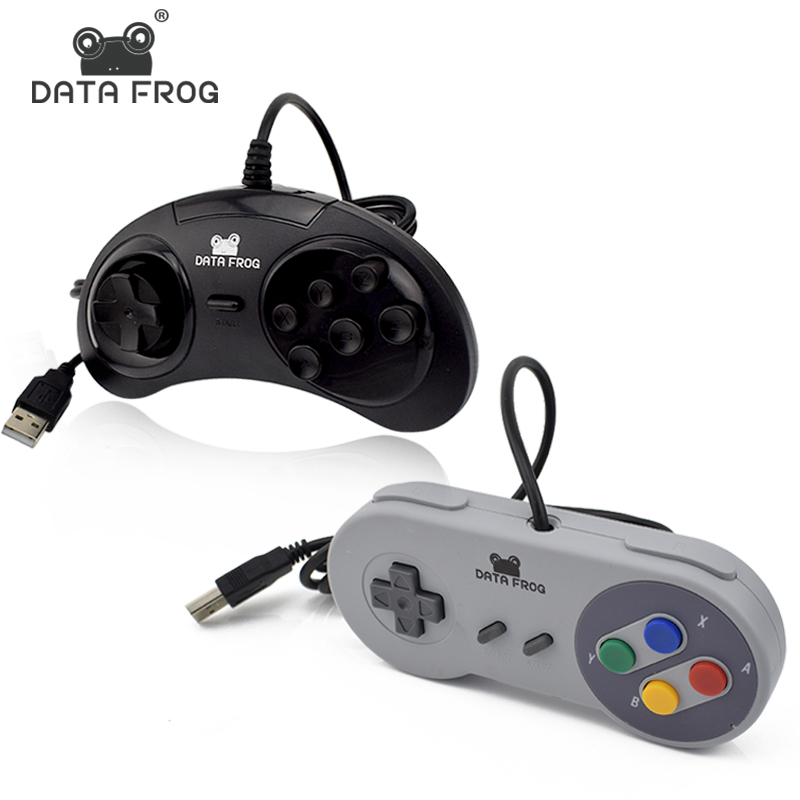 2 Pcs Wired USB Controller For SNES Gamepad Joystick For PC/Mac/Laptop Gaming Joysticks For 6 Buttons SEGA Joypad