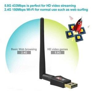 Image 3 - Wifi Adapter Wireless USB Freies Fahrer 1200Mbps 600Mbps Lan USB Ethernet 2,4G 5G Dual Band Wi fi netzwerk Karte 802,11 n/g/a/ac