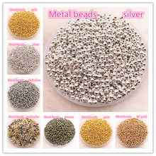 Jewelry Findings Diy 3mm 4mm Gold/Silver/Bronze/Silver Tone Metal Beads Smooth Ball Spacer For Making