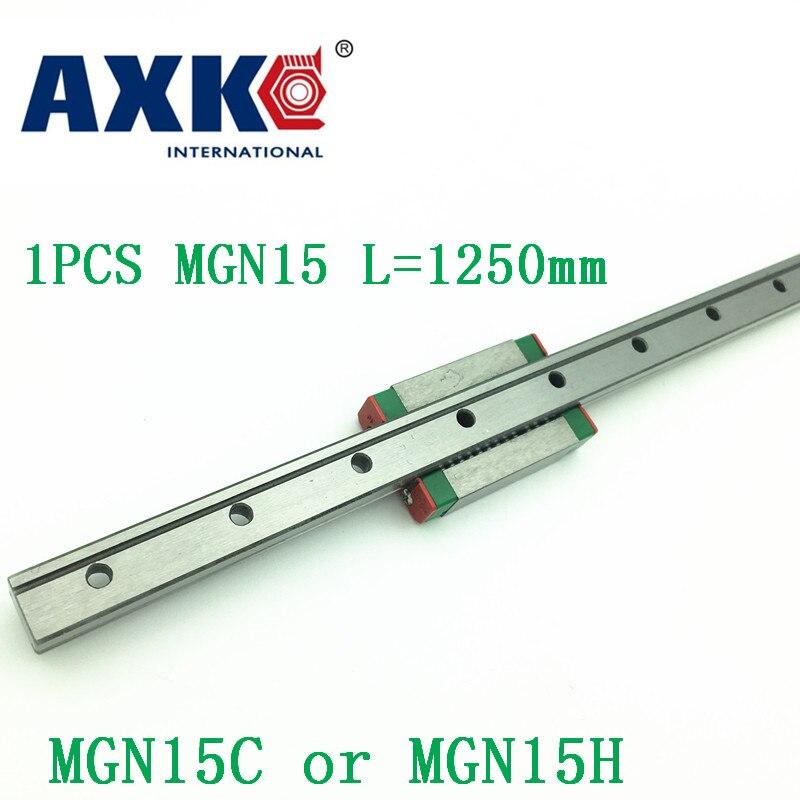 15mm Guide linéaire Mgn15 L = 1250mm chemin de Rail linéaire + Mgn15c ou Mgn15h Long chariot linéaire pour CNC X Y axe Z