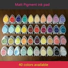 (10 Stks/partij) kleurrijke Decoratieve Ogen Vorm Pigment Krijt Inkt Pad Drop Matte Stempelkussens Voor Stempel/Krimpfolie/Embossing Poeder
