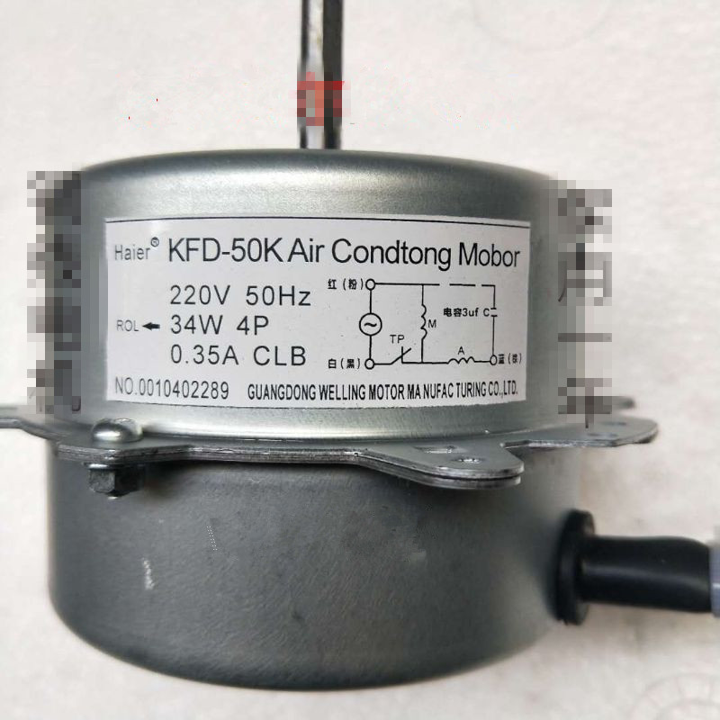 Original air conditioner fan motor for haier air conditioner parts KFD 50K 0010402289 34W copper wire