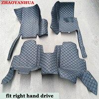 Right hand drive car floor mats for LEXUS LS600H LS430 LS460 LS460L car styling leather accessories carpet liners