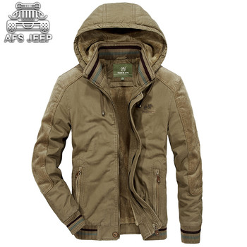 Men Winter Jacket Hooded Thick Warm Parkas Fur Inside 100% Cotton Army Military  Mens Coats ropa de hombre 2018 Parka CLothes