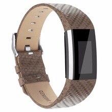 Pour Fitbit charge 2 en cuir bandes, Accessoires En Cuir Bandes bracelet pour Fitbit Charge 2, Adapte 5.9-8.1 pouce Armure Gris couleur