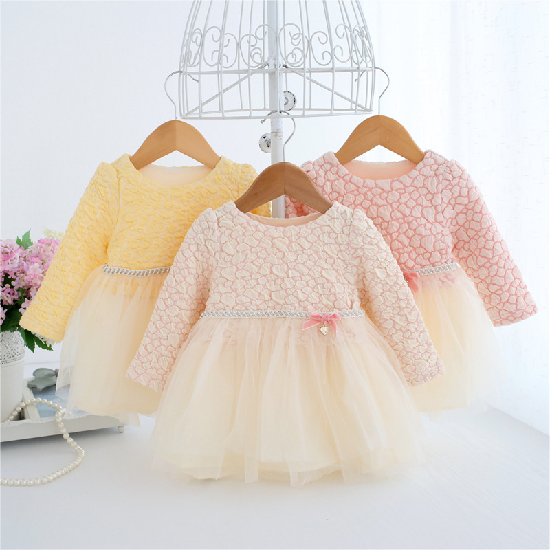 Baby Girl Dress 0-3Y Newborn Infant Baby Girl Dresses Fluffy Princess Ball Gown Birthday Dress Soft Cotton Baby Clothing A014