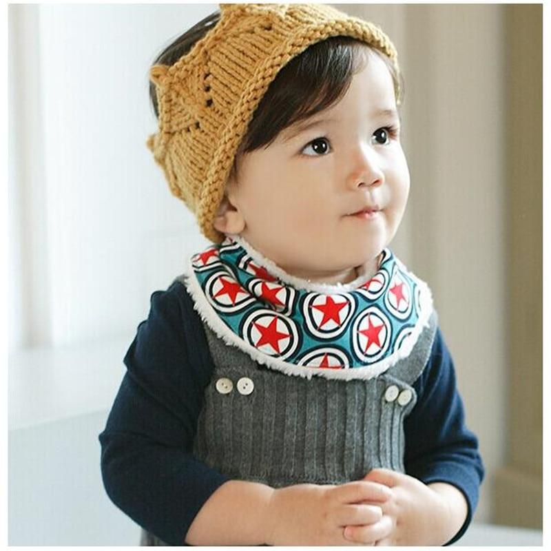 30d8dca32dc6 Winter Warm Baby Girl Bibs Baby Boys Bibs Stars Infant Burp Cloths ...