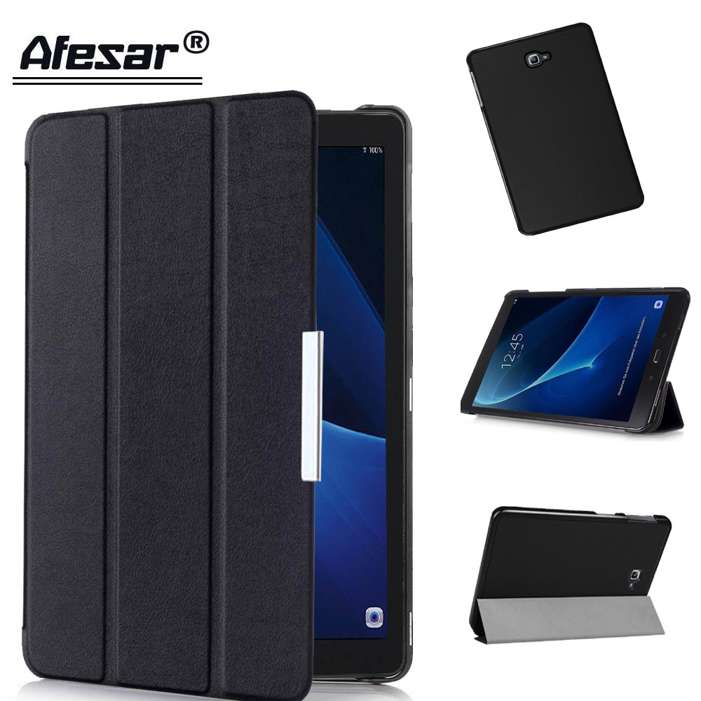 Tab A6 10.1 SM T585 tablet smart Cover For Samsung Galaxy Tab A 10.1 2016 T580 T587 Protector film stand Case magnetic sleep heavy duty silicone hard case cover protector stand tablet for samsung galaxy tab a a6 10 1 2016 t585 t580 sm t580 stylus