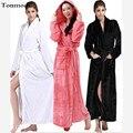 Mulheres amantes do Inverno Sleepwear Longo Robes Mens Alongar Robe de Flanela Robe Espessamento salão Camisola Casal