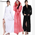 Women Sleepwear Long Robes Winter lovers Mens Robe Thickening lounge Nightgown Couple Lengthen Flannel Robe
