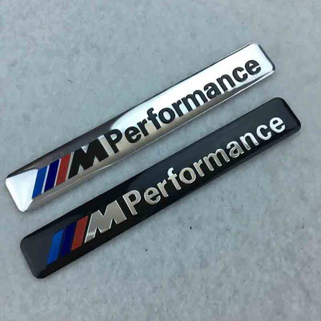 Aluminum M Power Performance Car Sticker Decal Emblem Badge For Bmw
