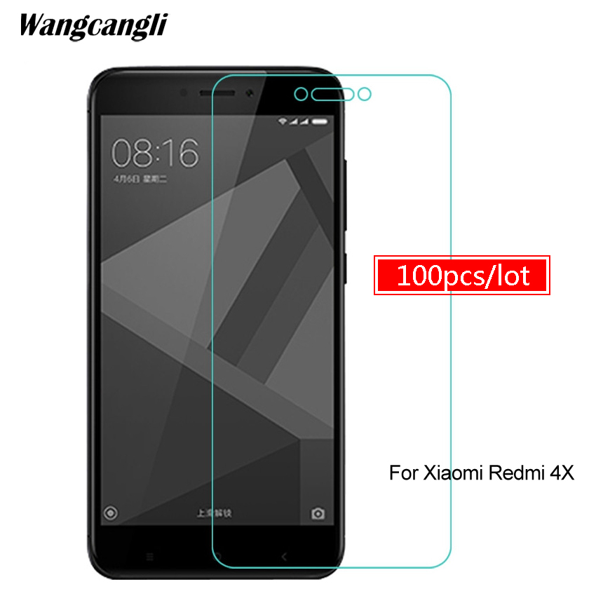 100pcs Tempered glass For Xiaomi Redmi 4x protective glass on for xiaomi redmi 5 plus 4 pro 4a note3 note 4x 5a screen protector