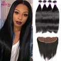 Virgo hair company Peruvian virgin hair with frontal closure ear ear to ear lace frontal closure with bundles lace frontal weave