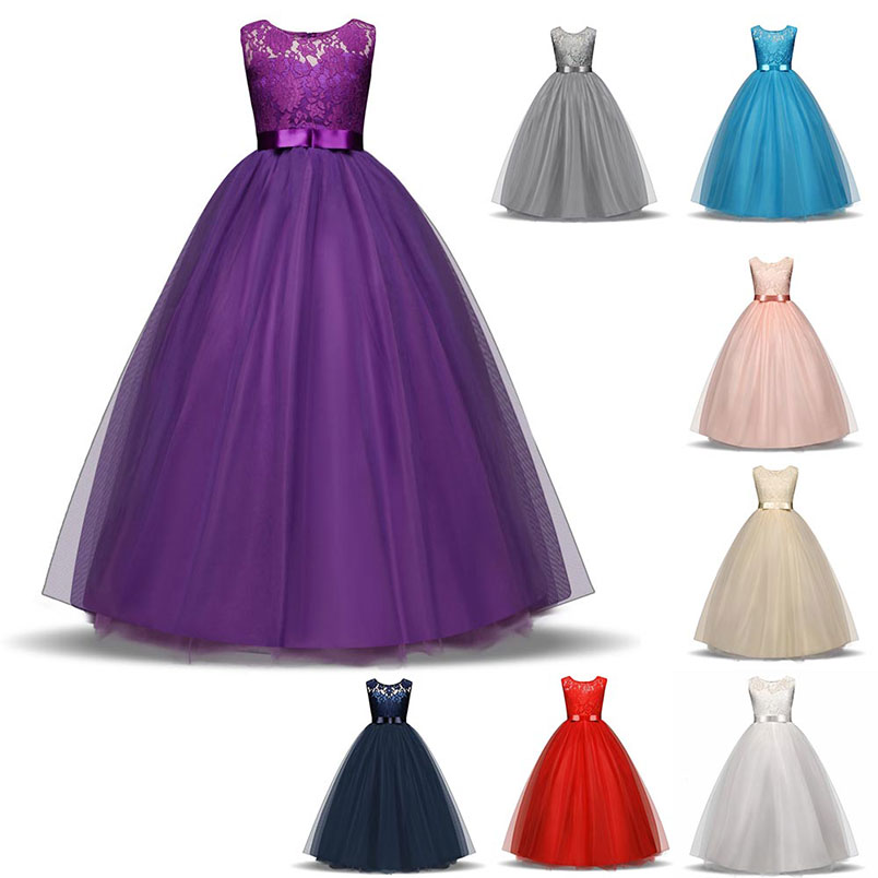 Baby Girls Chiffon princess Dress Birthday Party Toddler Girl formal occasion Christening Dress children Dresses For Girls Gift