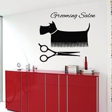 Pet Salon Sticker Dog Decal Muurstickers Posters Vinyl Wall Art Decals Pegatina Quadro Parede Decor Mural Pet Shop Sticker