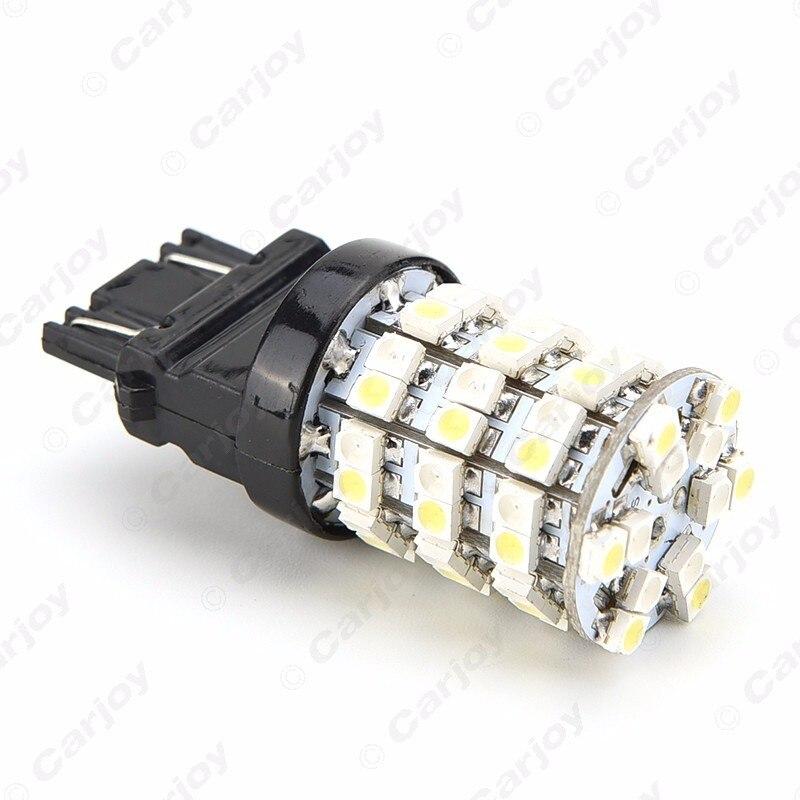 Leewa 50 шт. T20 T25 3157 60 SMD 1210 чип белый/желтый двойной Цвет горки поворотов автомобиля светодиодный свет # CA1592