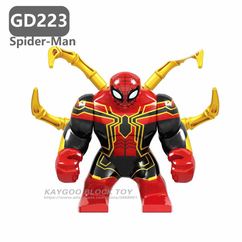 Large Figure Hulk Buster Big Super heroes Batman Iron  War Machine Venom Thanos Spider man Building Blocks Brick Set Toys