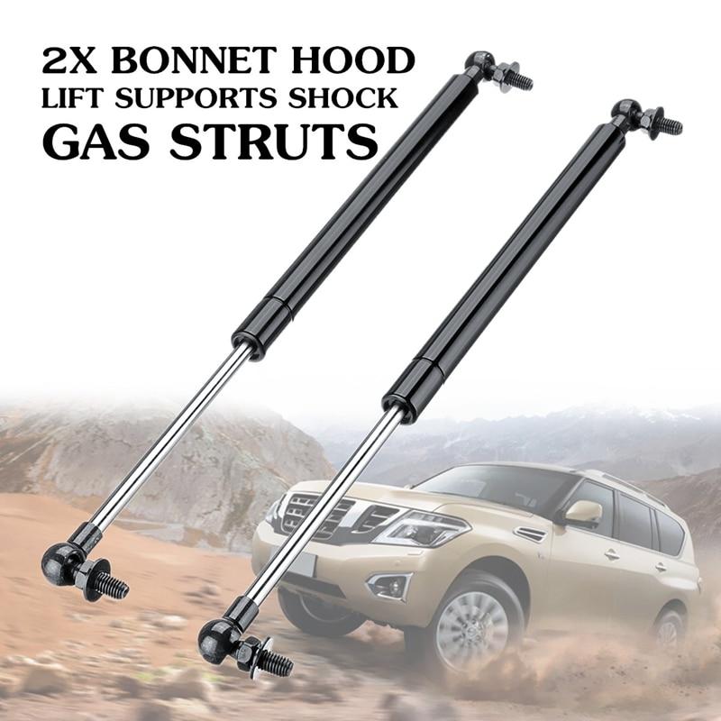 2Pcs Bonnet Hood Lift Supports Shock Gas Struts For Nissan Patrol Y61 Y62 1997-2018 Steel 41Cm