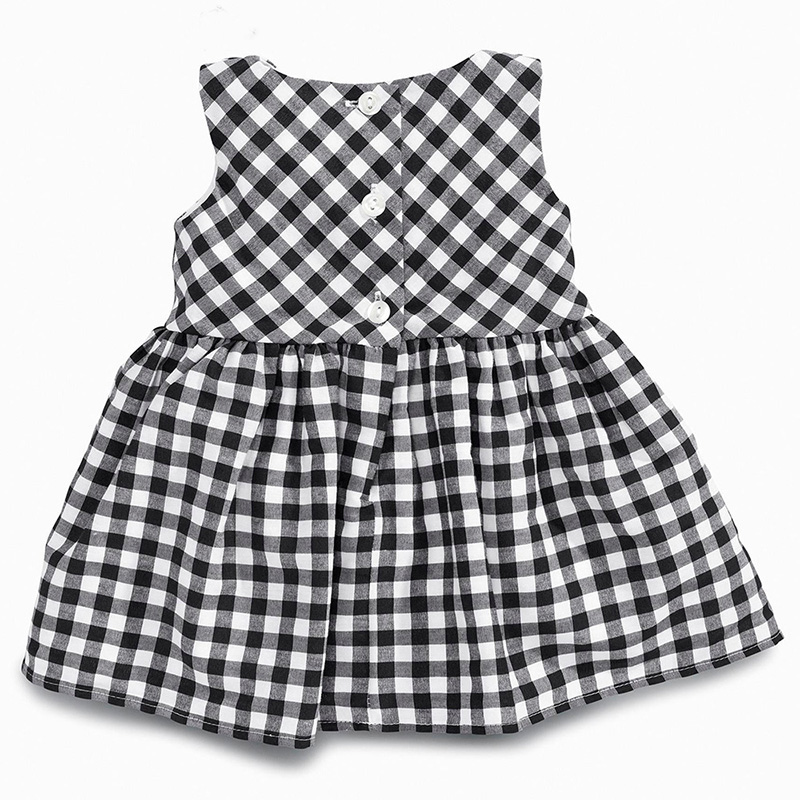 Baby-Girls-Dress-2016-New-Casual-Plaid-Sleeveless-Turn-down-Collar-Princess-Dress-Plaid-shorts-2pcs (3)