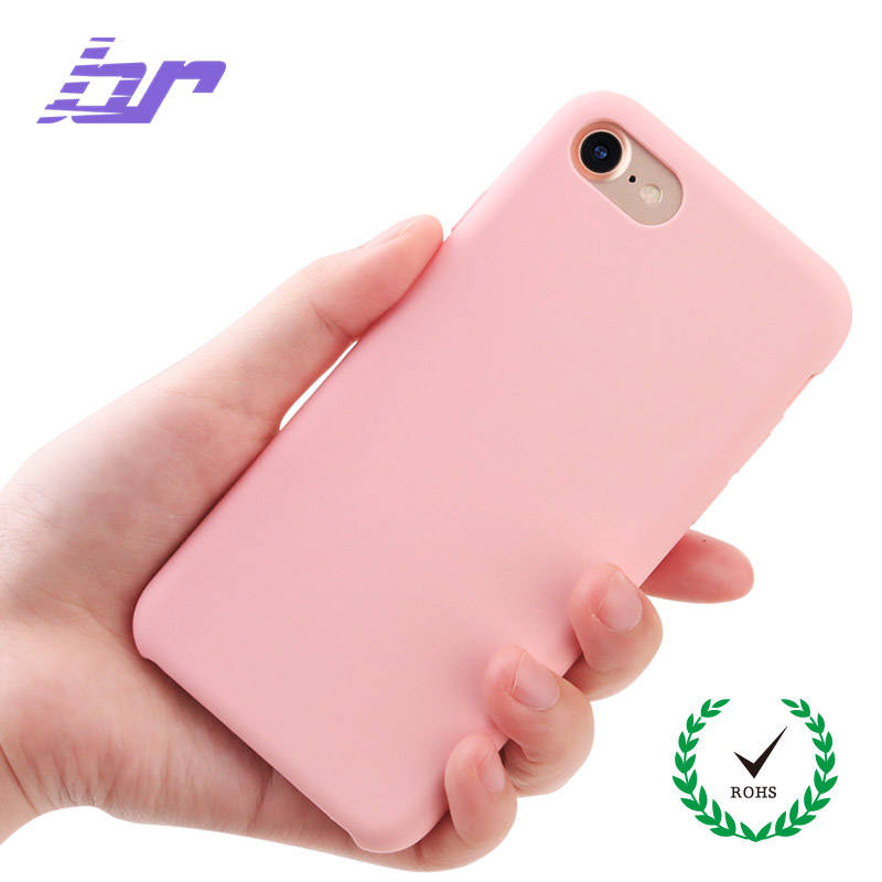 BR Liquid Silicone Case for iPhone 7 7 Plus Phone Cover Microfiber Back Phone Cases For iPhone 8 8 Plus Protective Rubber Shell