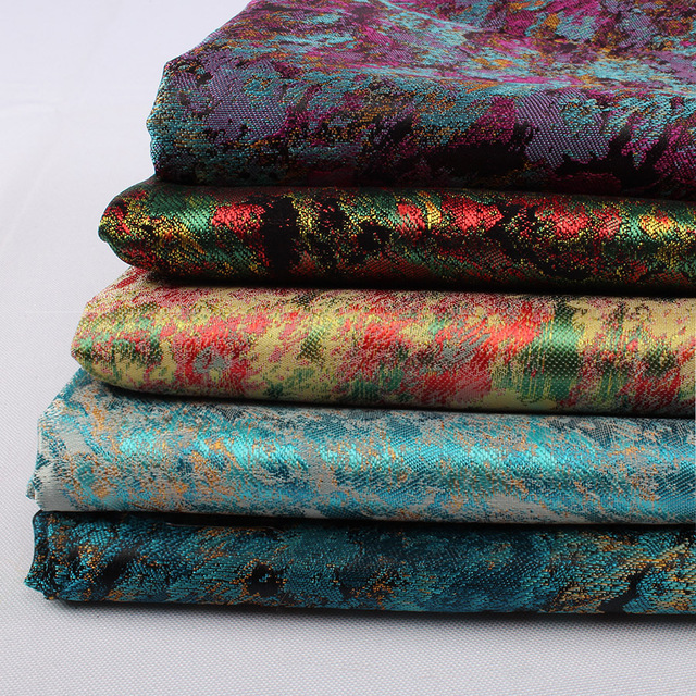 7154f870d67af Lukisan Minyak Abstrak Gaya Jacquard Kain Brokat Starry Pola Fashion Diy  Pakaian Casing 90 Cm Lebar Halaman