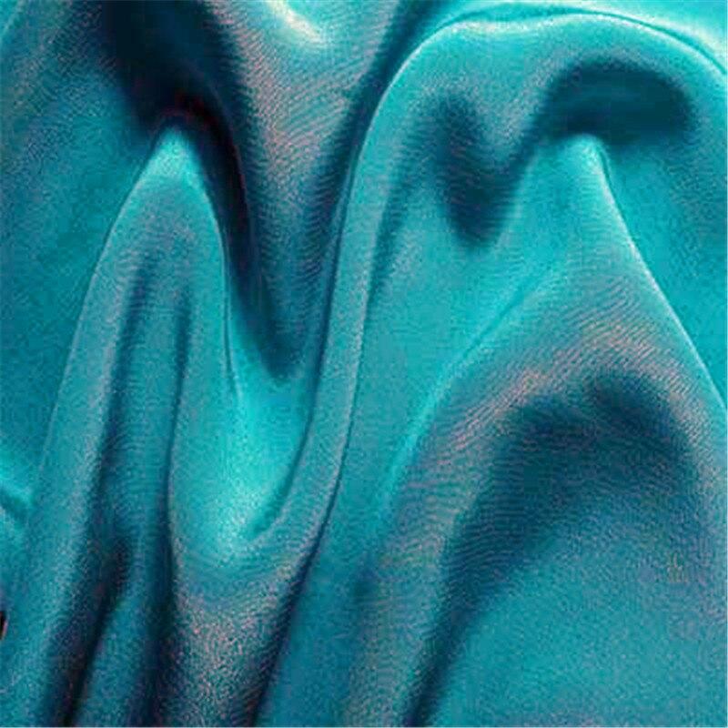 16 мм эластичный шелк крепдешин ткань шелк тутового шелкопряда 108 см ширина серебристый черный синий фиолетовый 10 метров маленькая - Цвет: 02