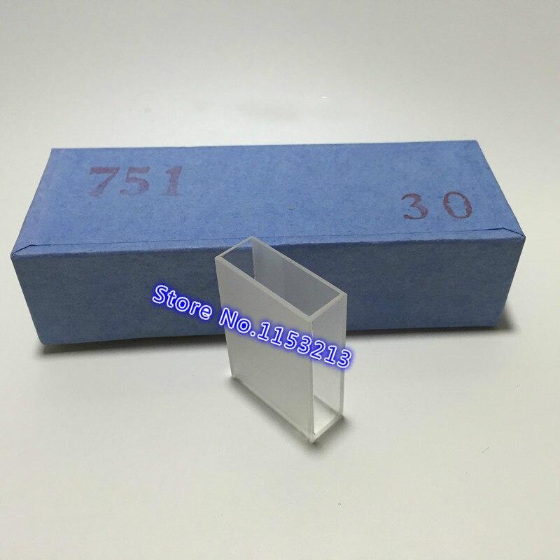 2 szt. Ścieżka światła 30 mm Szklana kuweta wysokiej jakości 751 seria szkła optycznego wewnętrzna wielkość (L * W) 30 * 10 mm kuweta kuwetowa Wysokość 45 mm