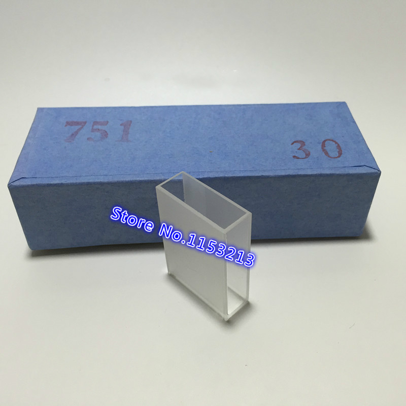Glass Cuvette Light Path 30mm ( Liquid Sample Cell ) 10.5ml Optical Glass Absorption Cells Use For Spectrophotometer 2pcs/pk