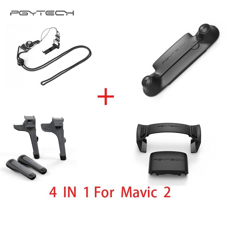 PGYTECH 4 в 1 комплект mavic 2 Пульт дистанционного управления и контроллер застежка и шасси и моторчик с пропеллером держатель для DJI Mavic 2 drone